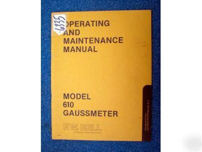 f w bell model 610 gausmeter instruction manual