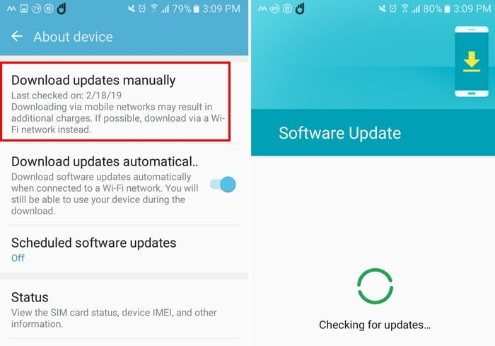 download updates manually android doesntw ork
