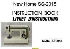 new home sewing machine model ss 2015 manual
