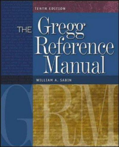 the gregg reference manual pdf